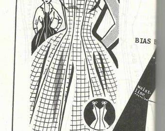 1950s Halter Dress or Shoulder Tie Dress Full Skirt and Bolero Sue Burnett Patt-O-Rama FF Size 20 Bust 38 Women's Vintage Sewing Pattern