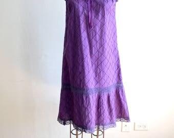 Oaxacan Purple Crochet Mexican Dress