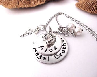 Brother Memorial, Loss of Brother, Memorial Keychain, Sibling Loss, Brother Bereavement, My Angel Brother, Sympathy Gift