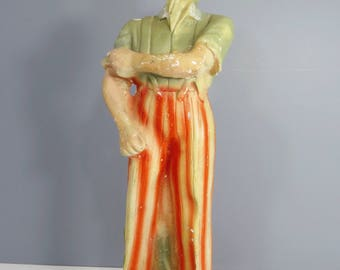 Vintage UNCLE SAM Chalkware Figurine Americana Carnival Prize 4th of July Patriotic/Military