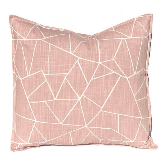 Blush Pink Decorative Pillow : Blush Pink Pillow Covers Throw Pillow Covers Cut Glass