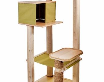 Cat Tree - Scratching Post - Cat Furniture - Cat House & Hammock - Cat Bed