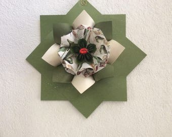 Christmas Wall Decoration Eclectic Geometric Display