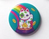 Lucky Cat Magnet, Good Luck Cat, Maneki Neko, Kawaii Cat Magnets, Good Luck Magnets, Good Luck Gifts, Cat Lover Gift, Cat Decor, Cat Gift
