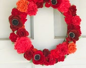 Felt wildflower wreath - ready to ship