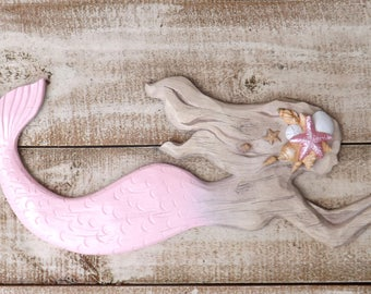 Mermaid~Little Mermaid~Pink~Mermaid Wall Decor~Mermaid~Nautical~Beach Decor, Bathroom Wall Decor,mermaid partyCyber Monday