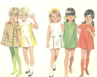 Girl's A Line Dress Pattern Butterick 4848 Unused FF Size 2 or Size 5