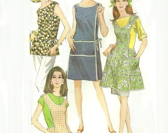 Wrap Around Dress or Apron Pattern Bust 38 to 40 McCalls's 8818 Size Large