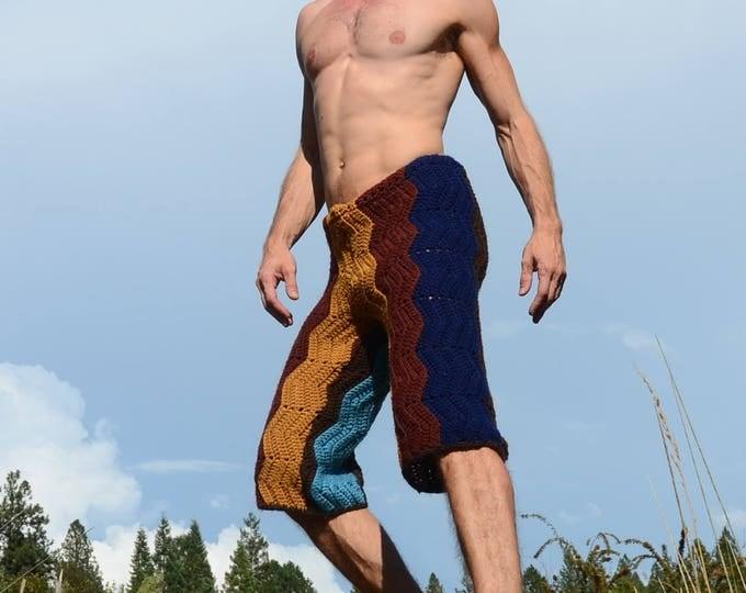 Crochet Shorts Longboard Zigzags L