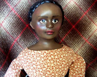 Molly Shaw, cloth and clay character doll by Jan Conwell