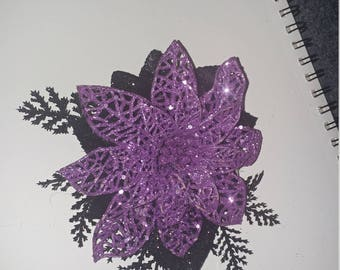 Purple Flower Clip