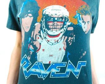Vintage RAVEN shirt 1985 Concert Shirt Band Tee Heavy Metal Metallica shirt Metallica Tee Women's shirt Men's Shirt Extremely Rare