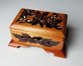 Beautiful wooden carved box unique