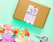 Elle Aime Tekent box - MARCH - Tiny Paper Animals | subscription box, illustration, surprise box, creative gift, art supplies, learn to draw