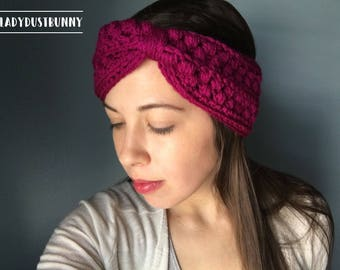 Crochet Headband / knit headband / knitted headband / Turban Headband