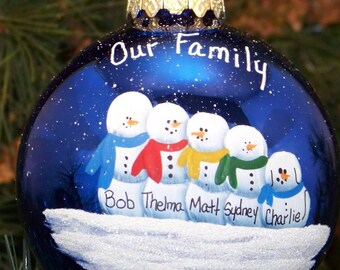 Personalized Family of 5 ornament