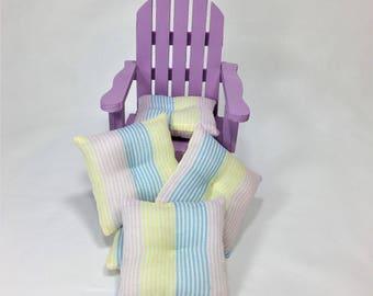 Tiny Deck Chair with Pillow for PukiFee, Lati Yellow, Azone Pureneemo and Ruruko Dolls
