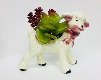 Ceramic Lamb Planter
