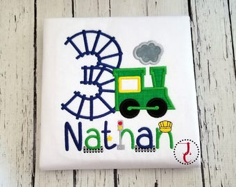 Train Birthday Shirt - Boys Birthday Shirt, Train Shirt, 1st Birthday Outfit, Train Party, Birthday Shirt For Boys, Train Party, Toddler