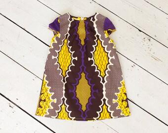African girls dress, African print childrens dress, African toddler dress, African kids clothes, graphic print girls dress,afrocentric dress