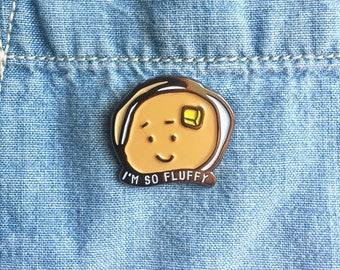NEW! I'm So Fluffy Pancake Brunch Breakfast Enamel / Lapel Pin