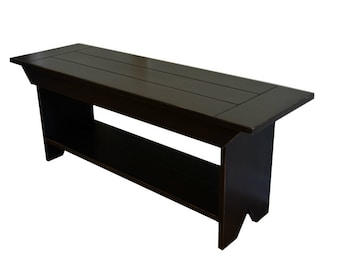 Farmhouse Plank Top Wooden Bench - Entryway Bench - Coffee Table - TV Stand - Available with a Distressed Finish