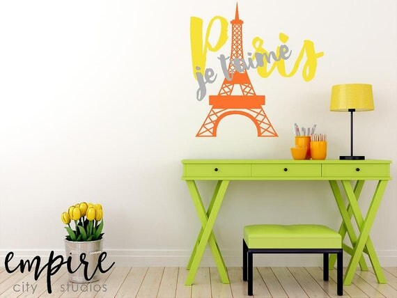 Eiffel Tower Wall Decal, Paris Wall Decal, Paris Je Taime, Paris is Always a Good Idea, C'est La Vie wall vinyl