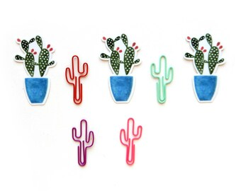 Prickly Pear Cactus Sticker | Watercolor Illustration Cactus Waterproof Vinyl Decal