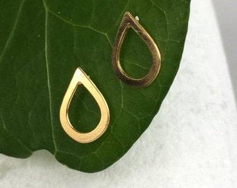 Gold Stud Earrings, Geometric Jewelry, Gold Ear Studs, Tiny Earrings, Small Earrings, Gold Earrings, Geometric Earrings, Minimalist Jewelry