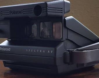 Polaroid Spectra System Spectra AF Vintage Instant Film Camera with Closeup Lens Adapter