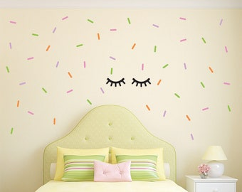 confetti sprinkles vinyl wall decals custom wall decal kids room decors children wall decals