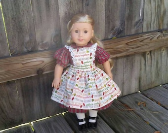 Thanksgiving Baking Dress for American Girl 18 inch dolls
