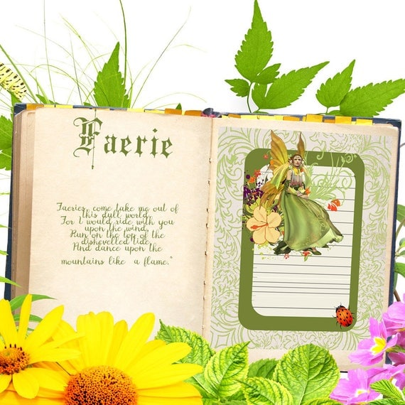 Faerie Journal Book of Shadows Page