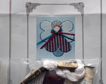 Needlepoint Kit | CELEBRATION CHRISTMAS ANGEL | Pamela D Pabst | Needlepoint Pattern | Canvas | Threads | Stretcher Bars | Instructions