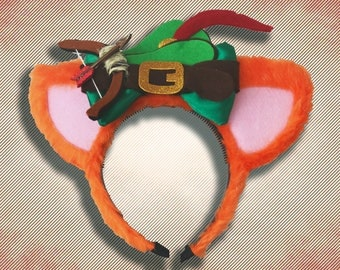 Robin Hood Mouse Ear Headband with Bow