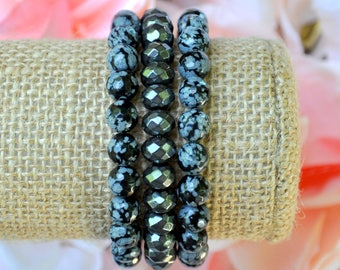 Faceted Gray & Charcoal Stack