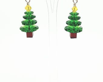 Christmas Earrings Christmas Tree Earrings Christmas Gift For Her Festive Earrings Holiday Earrings Xmas Earrings Xmas Tree Earrings
