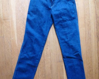 Vintage Wrangler Jeans 80s Deadstock Denim- High Waisted Blue Jeans