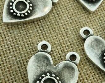 two hole heart pendants