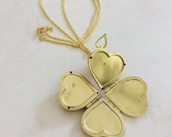 Family & Friends Multi Frame Folding Heart Locket, Gold Locket, Keepsake Jewelry, Perfect Gift
