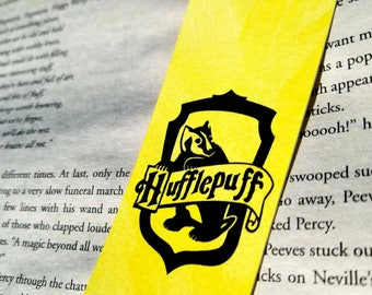 Hufflepuff Harry Potter Watercolor Bookmark