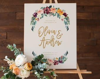 Fall in Love Wedding Day Large Display Sign