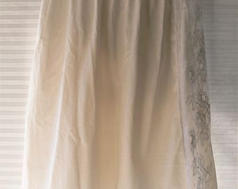 half slip with lace on sides size large