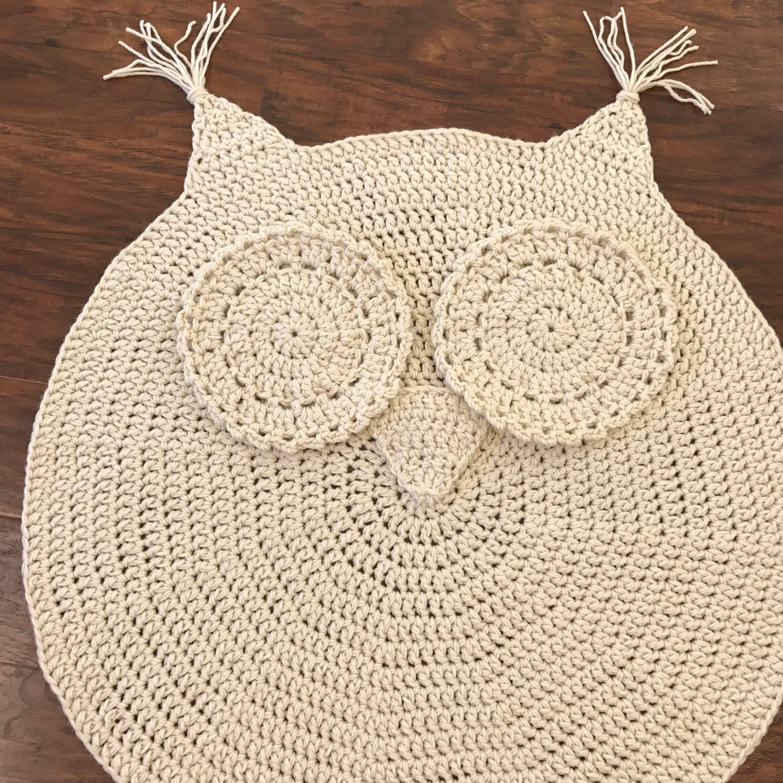 Crochet Rug EASY CROCHET PATTERN Crochet Owl Rug Nursery