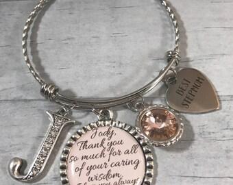 StepMOM Gift. BRACELET for StepMOM. Gift for Stepmother. Wedding Jewelry. Mothers Day Gift. StepMom Birthday. Best StepMom. Initial Jewlery