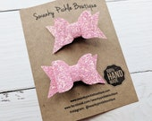 Pink Glitter Bow,Glitter Hair Bows,Pig Tail Bows,Toddler Hair Clips,Toddler Hair Bows,Pink Hair Bows,Baby Hair Clips,Baby Hair Bows