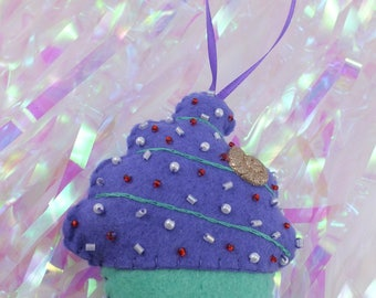 Cupcake Plush Ornament - Little Mermaid themed