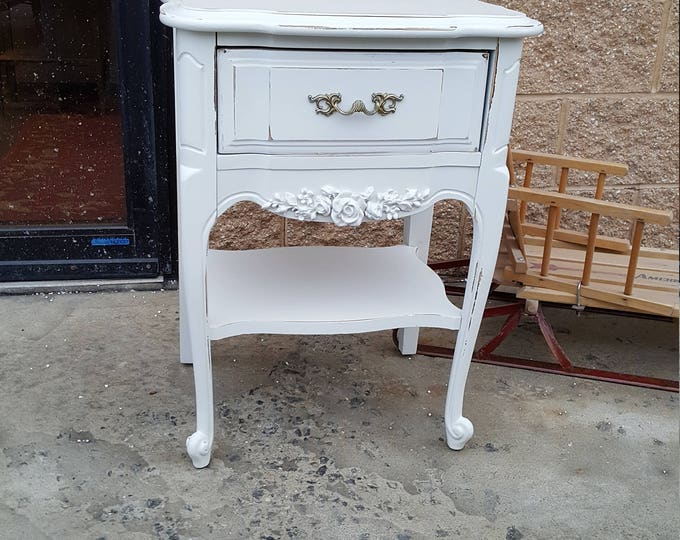 Vintage french provincial Shabby chic table, PICK UP ONLY  france bedroom, night stand, bedside table, french country,