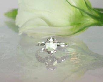 Raw stone engagement ring, Unisex Raw Crystal Ring, Solitaire Crystal Ring,Sterling Raw Crystal Ring, Unisex Raw Crystal Jewelry
