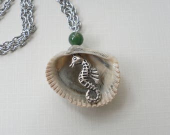 Surprise Shell - Seahorse Hidden Charm Necklace